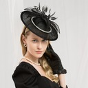 Ladies' Fashion/Glamourous/Elegant Cambric With Feather Fascinators/Kentucky Derby Hats/Tea Party Hats (196187240)