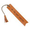 Personalized Vintage Style Leather Bookmarks With Tassel