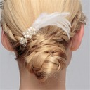 Ladies Exquisite Imitation Pearls/Feather Combs & Barrettes