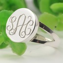 Personalized Ladies' Hottest 925 Sterling Silver With Round Engraved Rings For Mother/For Friends/For Couple