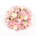 Sweet Round Artificial Silk Bridal Bouquets
