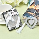 """""""Love Story""""/Heart Shaped Heart Shaped Stainless Steel Bookmarks (Sold in a single piece)"""