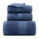 Skin-Friendly Soft Geometric Cotton Towel Set (Set of 3)