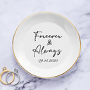 Bride Gifts - Personalized Classic Simple Delicate Ceramics Ring Dish