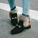 Women's Suede Chunky Heel Pumps Ankle Boots With Fur Others shoes