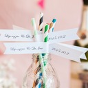 Personalized Name And Date High quality paper Straw (Set of 50)