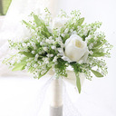 Simple And Elegant Round Silk Flower Bridal Bouquets - Bridal Bouquets