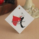 Personalized Bride And Groom Hard Card Paper Tags (Set of 30)