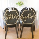 Classic/Beautiful Elegant Wooden Wedding Sign (set of 2)