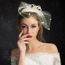 Ladies' Elegant Lace/Linen With Tulle Fascinators/Tea Party Hats