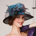 Ladies' Beautiful Organza With Feather Bowler/Cloche Hats/Kentucky Derby Hats/Tea Party Hats