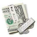 Personalized Dollar Design Stainless Steel Money Clips