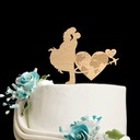 Personalized Kissing Couple Wood Cake Topper