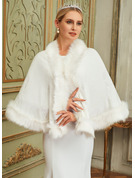 Faux Fur Cotton Wedding Wrap