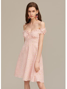 A-Line Sweetheart Short/Mini Cocktail Dress With Ruffle