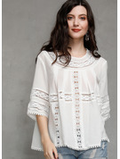1/2 manches Coton Col rond Blouses