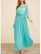 Polyester With Lace/Crumple/Solid Maxi Dress