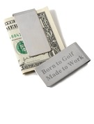 Money Clips Classic Stainless Steel Rectangle Personalized Gifts