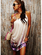 Print Shift Spaghetti Straps Sleeveless Midi Casual Vacation Type Dresses