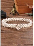 Beautiful Imitation Pearls Belt With Rhinestones