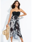 Fashional Floral Polyester Cover-ups Swimsuit