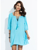 Elegant Solid Color Cotton Cover-ups Swimsuit