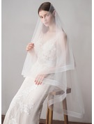 Two-tier Pencil Edge Waltz Bridal Veils