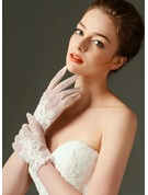 Tulle Wrist Length Bridal Gloves