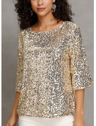manches 3/4 Polyester Col rond Blouses