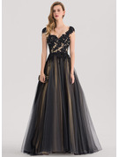 Ball-Gown Sweetheart Sweep Train Tulle Prom Dresses