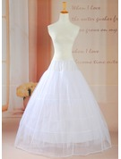 Women Tulle Netting/Satin Floor-length 2 Tiers Petticoats