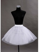 Women Tulle Netting/Satin Short-length 2 Tiers Bustle
