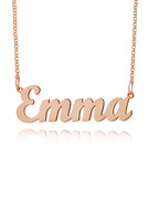 Custom 18k Rose Gold Plated Letter Name Necklace
