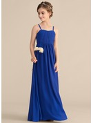 Sweetheart Floor-Length Chiffon Junior Bridesmaid Dress With Ruffle