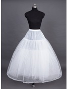 Women Nylon/Tulle Netting Tea-length 4 Tiers Petticoats