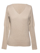 Couleur unie Polyester V-neck Pulls Pulls