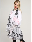 Striped Light Weight/Oversized/fashion/simple Cotton Scarf