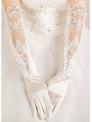 Lace Elbow Length Bridal Gloves With Embroidery/Lace Flower