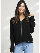 Cable-knit Solid Polyester Hooded Pullovers Sweaters