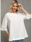 1/2 manches Coton Polyester Col rond Blouses
