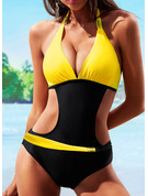Elegant Plus Size Low Waist Polyester Spandex One-piece