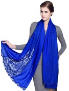 Solid Color Oversized/Shawls/attractive lace Scarf