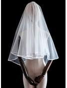Two-tier Ribbon Edge Elbow Bridal Veils