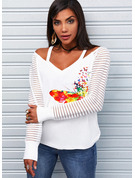 Regular Fitted Animal Print Casual Long Sleeves