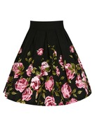 A-Line Skirts Above Knee Floral Cotton Skirts