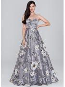 A-Line/Princess Sweetheart Floor-Length Organza Prom Dresses