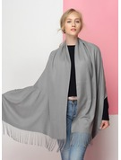 Solid Color Oversized/Shawls Artificial Wool Scarf
