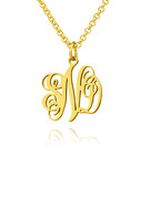 Christmas Gifts For Her - Custom 18k Gold Plated Silver Letter Xs Monogram Necklace