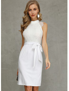 Polyester/Lace Knee Length Dress