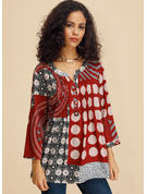 manches 3/4 Polyester Col V Blouses